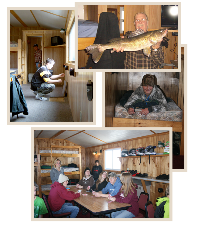 Lake mille lacs deluxe ice fishing house rentalsmac 39 s twin bay for Fish house rentals mn