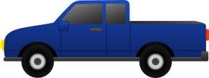 small truck blue